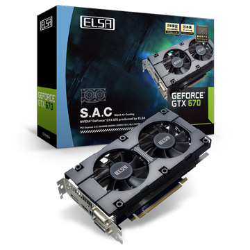 ELSA GEFORCE GTX 670 2GB S.A.C 製品画像