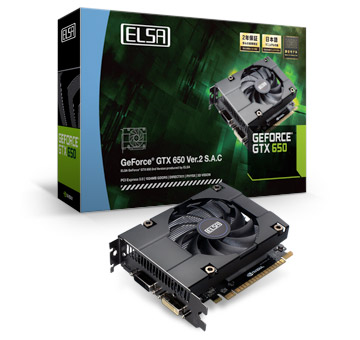 ELSA GEFORCE GTX 650 Ver.2 1GB S.A.C 製品画像