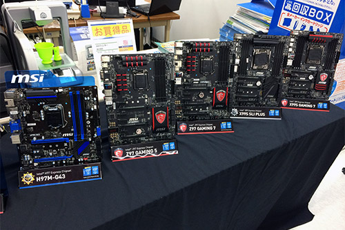 MSI最新のX99マザーボードやゲーミングシリーズのマザーボードなどを展示
