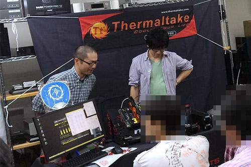 オリオスペック店長の松澤氏と「水冷PC読本」の筆者であるUNT2worksの木下氏
