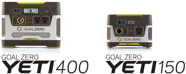 Yeti 400 Solar Generator、Yeti 150 Solar Generator 製品画像