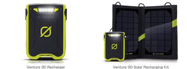 Venture 30 Recharger、Venture 30 Solar Recharging Kit 製品画像