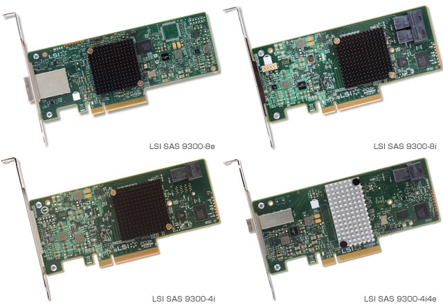 LSI SAS 9300シリーズ 製品画像