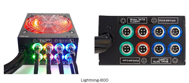 米国Rosewill社(ロズウィル)製、PC電源ユニット「Lightning-800」