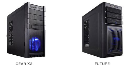 Rosewill社製のミドルタワー型PCケース「Gear X3」と「Future」