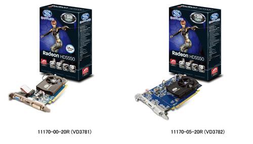 SAPPHIRE社製、AMD社ATI Radeon™ HD5550チップセット搭載、DirectX 11対応のSAPPHIRE HD5550シリーズ