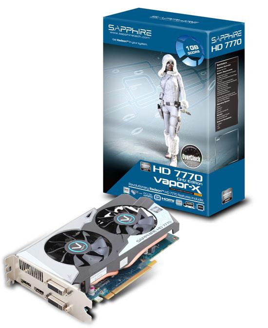 VAPOR-X HD7770 GHZ EDITION 1G GDDR5 PCI-E DVI-I / DVI-D / HDMI / DP OC 製品画像