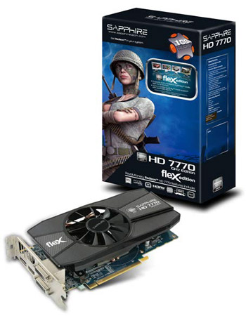 FLEX HD7770 GHZ EDITION 1G GDDR5 PCI-E DL-DVI-I+SL-DVI-D / HDMI / DP 製品画像