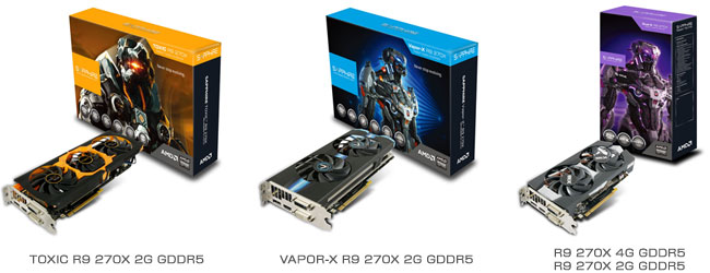 Radeon R9 270X搭載グラフィックスボード 製品画像
