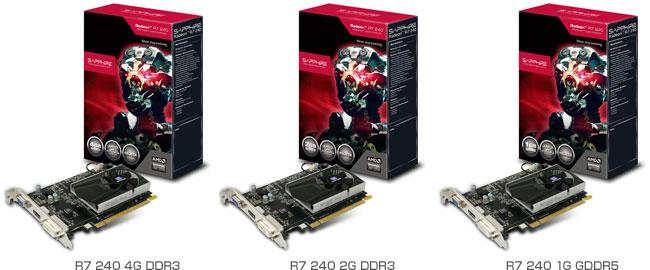 Radeon R7 240搭載グラフィックスボード 製品画像