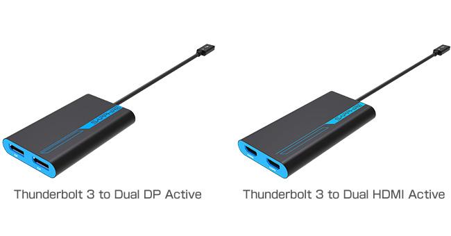 SAPPHIRE Thunderbolt 3 to Dual DP/HDMI 製品画像