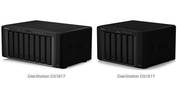 Synology DiskStation DS1817、DS1517 製品画像