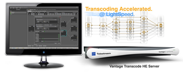 Telestream社、OTT (Over The Top) など配信に特化したビデオトランスコーダー「Vantage Transcode HE server」を発表