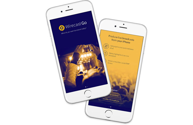 Telestream社、モバイルライブストリーミングアプリケーション「Wirecast Go」を発表。iPhoneが生放送のスタジオに