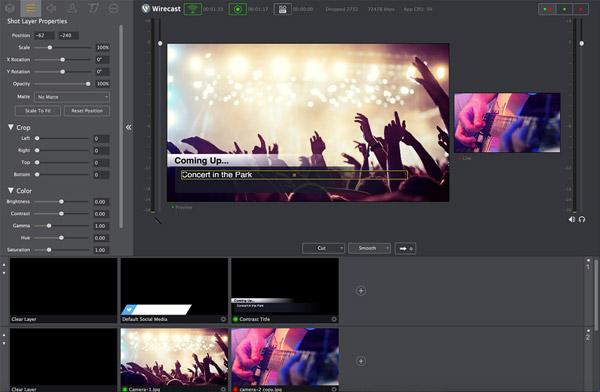 Telestream社、パワフルで新しいプロダクション能力を備えたWirecast 7を発表。手頃な価格でライブストリーミングが配信可能に