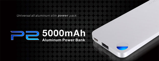 LUXA2 P2 5000mAh Aluminium Portable Battery 製品画像