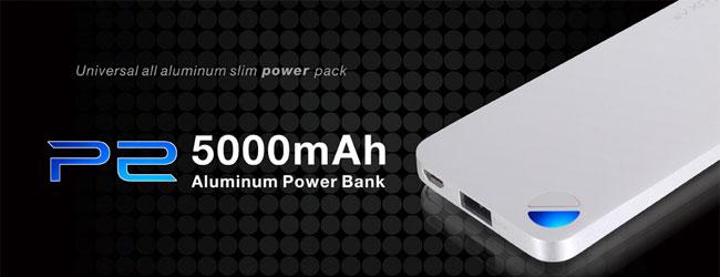 LUXA2 P2 5000mAh Aluminium Portable Battery 製品画像