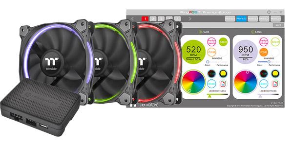 Thermaltake Riing 14 RGB ファン Premium Edition -3Pack- 製品画像