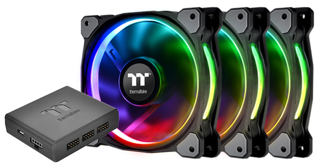 Thermaltake Riing Plus RGB Fan Premium Editionシリーズ 製品画像