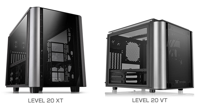Thermaltake LEVEL 20 XT、LEVEL 20 VT 製品画像