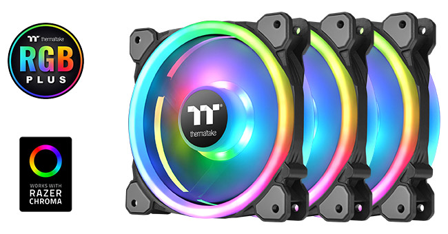 Thermaltake Riing Trio 12 RGB 3Pack 製品画像