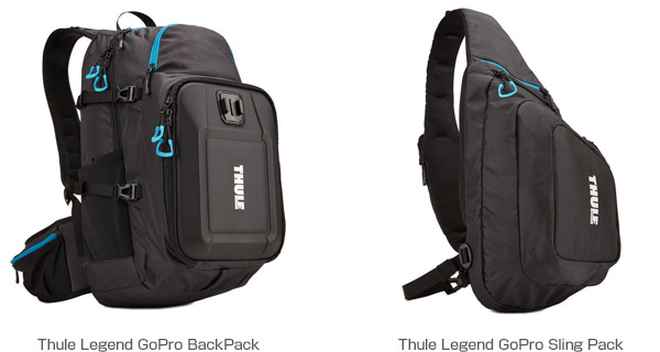 Thule Legend GoPro BackPack、Thule Legend GoPro SlingPack 製品画像