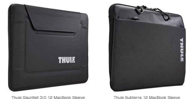 Thule Gauntlet 3.0 12 MacBook Sleeve、Thule Subterra 12 MacBook Sleeve 製品画像