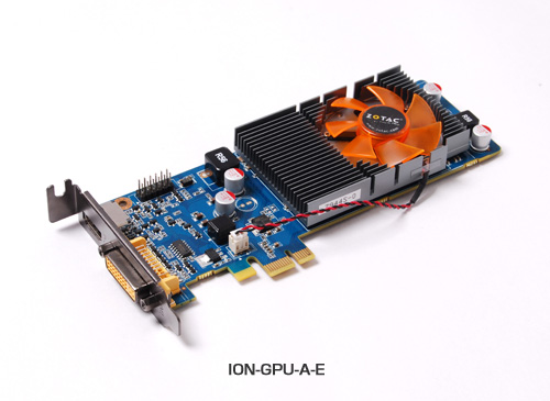 GT218を搭載、PCI Express x1対応グラフィックスION-GPU-A-E