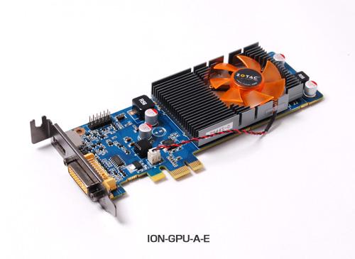 GT218を搭載、PCI Express x1対応グラフィックスION-GPU-A-E