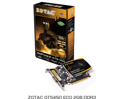 ZOTAC GTS450 ECO 2GB DDR3製品画像