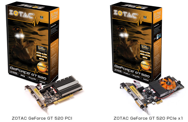 ZOTAC GeForce GT 520 製品画像