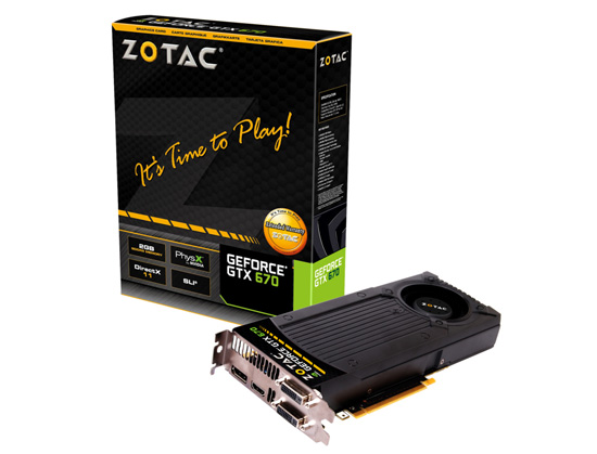 ZOTAC GeForce GTX 670 製品画像