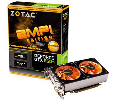 ZOTAC GeForce GTX 650 Ti 1GB TWINCOOLER AMP 製品画像
