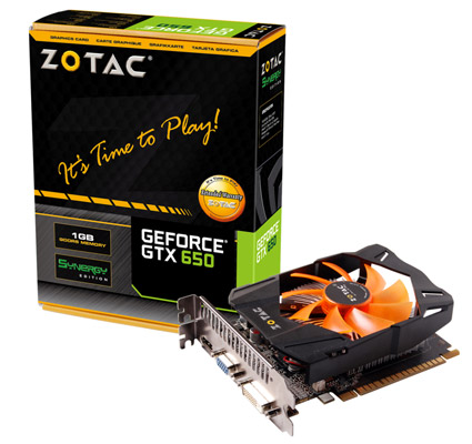 ZOTAC GeForce GTX 650 1GB REV2 製品画像