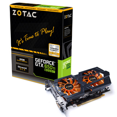 ZOTAC GTX 650 Ti Boost 2GB DDR5 製品画像