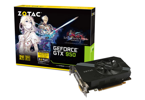 ZOTAC Geforce GTX 950 LORD of VERMILION ARENA 製品画像