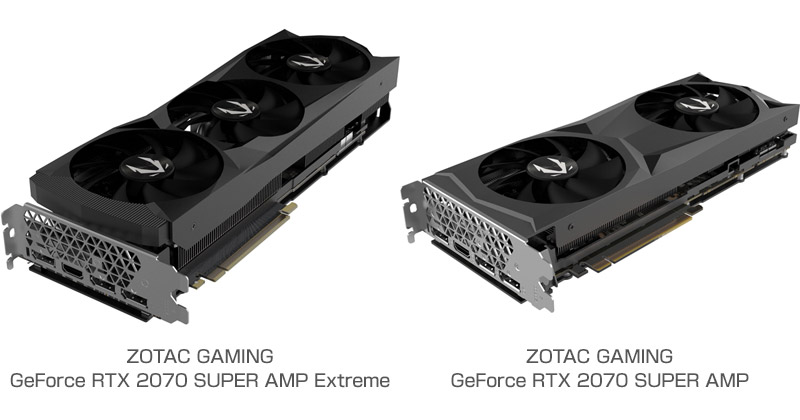 ZOTAC GAMING GeForce RTX 2070 SUPER AMP Extreme、ZOTAC GAMING GeForce RTX 2070 SUPER AMP 製品画像