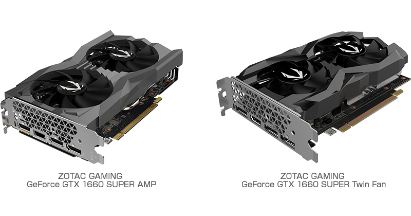 ZOTAC GAMING GeForce GTX 1660 SUPER AMP、ZOTAC GAMING GeForce GTX 1660 SUPER Twin Fan 製品画像