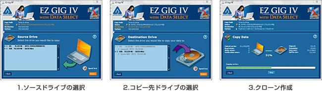3ステップで作業完了のクローンソフト「EZ Gig Cloning Software」