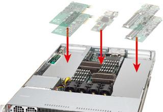 最大5つのPCI-E add-onカードを搭載可能