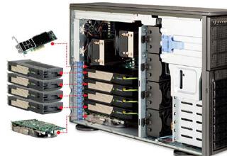 最大4台のGPUを搭載可能