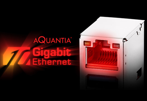 Aquantia 10ギガビットLANと2.5ギガビットLANを装備