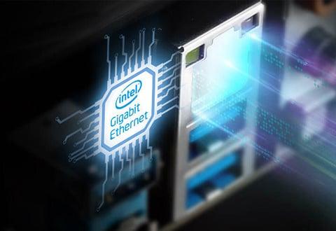 安定性を重視したIntel製ネットワークを搭載