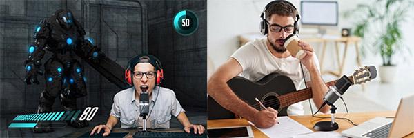 高音質な録音や配信を実現