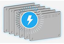 効率的な充電を行うインテリジェント充電システム搭載