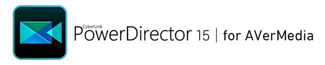 ビデオ編集ソフト「PowerDirector15 for AVerMedia」を付属