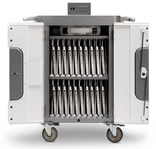 最大20台のMacBookやiPadを一括充電