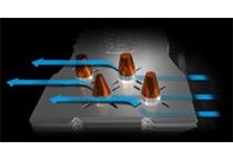 ヒートパイプ周辺の空気の停滞を防ぐX-Vents