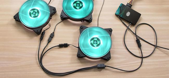 RGBファンやLEDテープの増設に最適