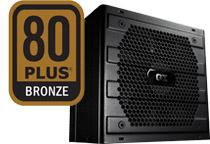 奥行き140mmのコンパクトサイズ80PLUS BRONZE電源